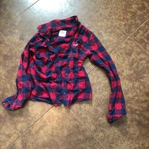 Hollister plaid long sleeve shirt